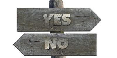 Pancarte oui ou non